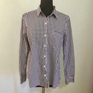 Gap checked blouse